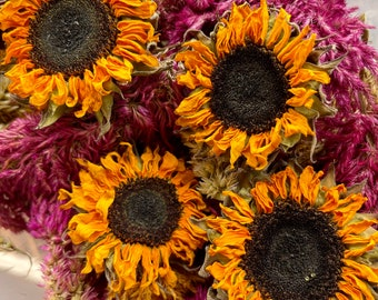 From the Farm - sunflowers - autumn inspired - wreath making - crafts - dried flowers