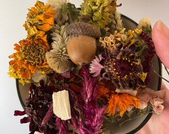 From the Farm - dried autumn floral potpourri with refill of essential oil blend - pick your scent - dried flowers