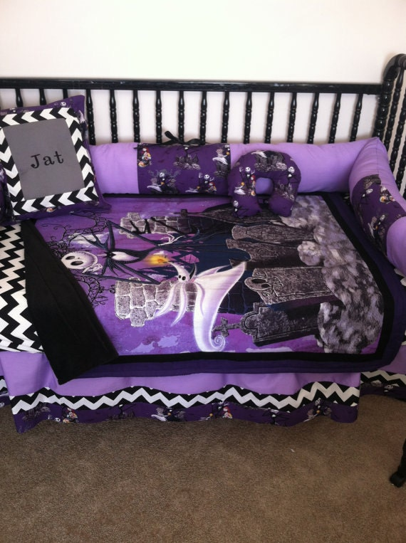 Nightmare Before Christmas Baby Bedding Free Personalized Etsy