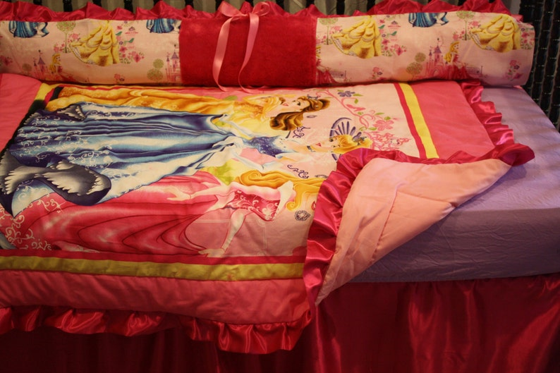 5pc Beauty and the Beast Crib Bedding by BedBugsCreations
