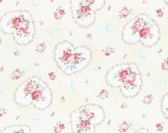 Princess Rose 2015   Cotton Fabric Lecien 31266-10 Hearts Cream