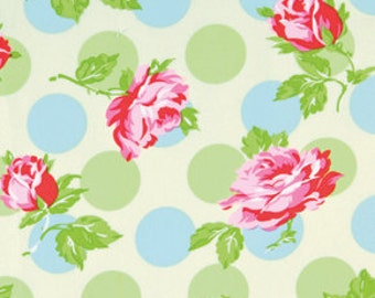Falling  Roses Fabric  Sugar Hill  Tanya Whelan Pink Roses on Ivory pwtw044 ivory