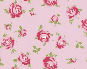 Rosey Pink Little Roses Fabric Collection  by Tanya Whelan  PWTW062-PINK