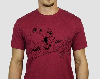 The Canadian Beaver T-Shirt (Vintage Red)