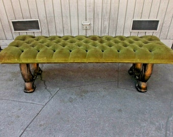 Pleasant Green Velvet Chairs Etsy Ocoug Best Dining Table And Chair Ideas Images Ocougorg