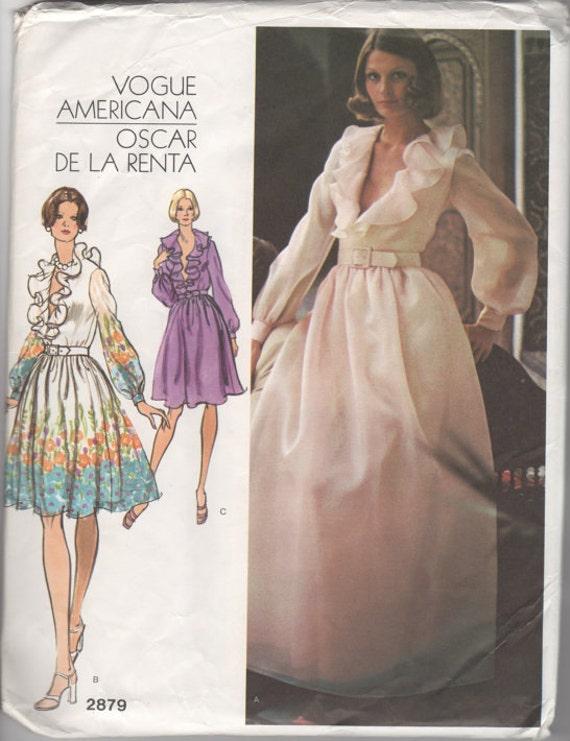 Vintage Oscar De La Renta Wedding Dress Original Vogue Etsy