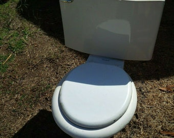 Vintage Mid Century American Standard White Toilet 4043 Vintage Made in USA
