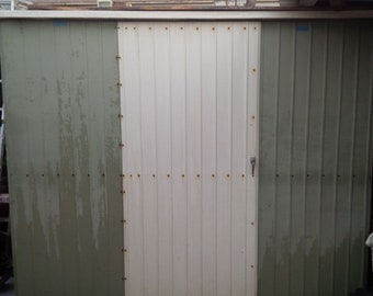 Vintage Aluminum Mid Century Modern Backyard Garden Shed // 1950s 1960s MCM Sloped Roof // Approx 8ft x 6ft