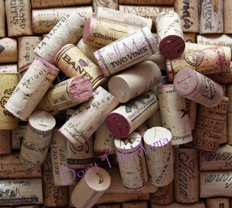 WINE CORKS 100 Used All Natural Wine Corks for Crafting image 0