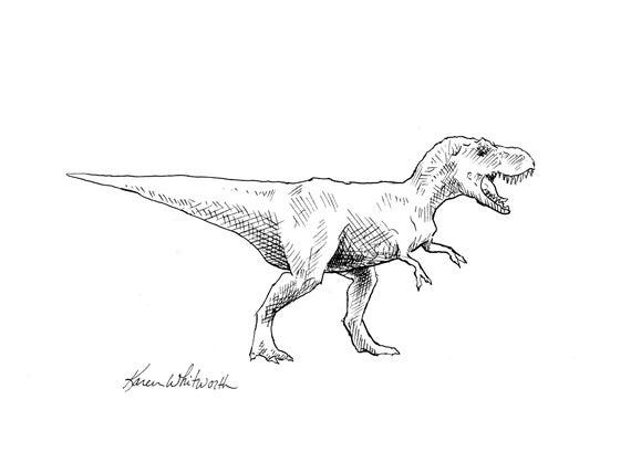 T Rex bærer støvler dinosaur med cowboy støvler Premium