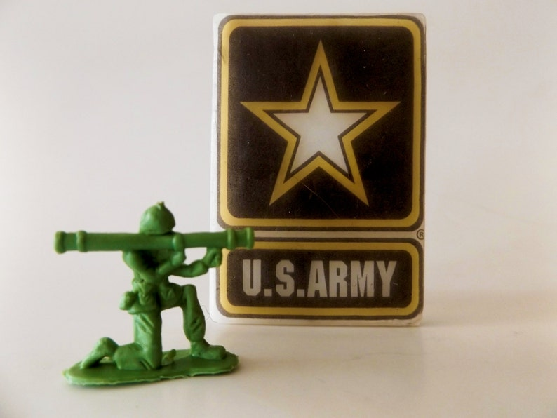 3D Green Army Men Cufflinks in Gift Box toy soldier metal military NEW