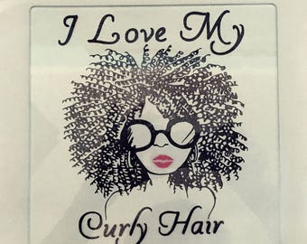 Curly hair Flat Iron Rest, Hot Comb Rest, Curling Iron Rest, cheese plate, chefs gift, glass cutting board, hair stylist gift, party favors