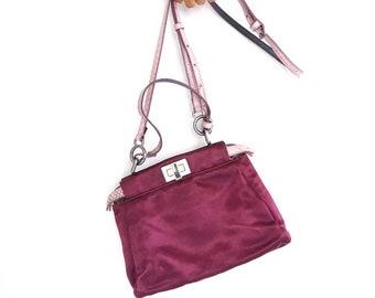 FENDI peekaboo mini satin crossbody bag (made in Italy) d7765fa179c07