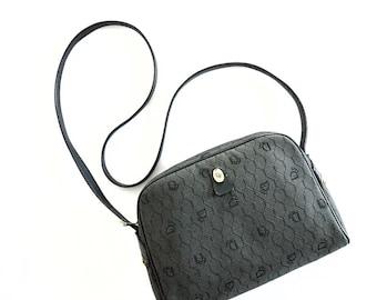 76bd252edd11a4 VTG Christian Dior honeycomb canvas / leather crossbody bag (made in France)