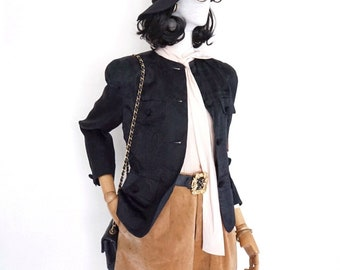 5ff9b347e95 VTG Alex de Bolzan tailored silk jacket (made in USA, size 4)