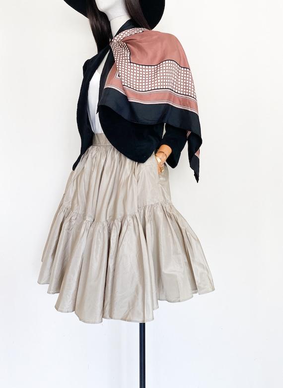 VTG Ralph Lauren silk taffeta skirt
