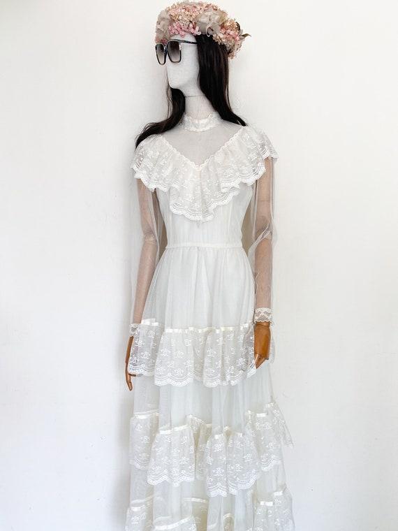 VTG 70s wedding gown