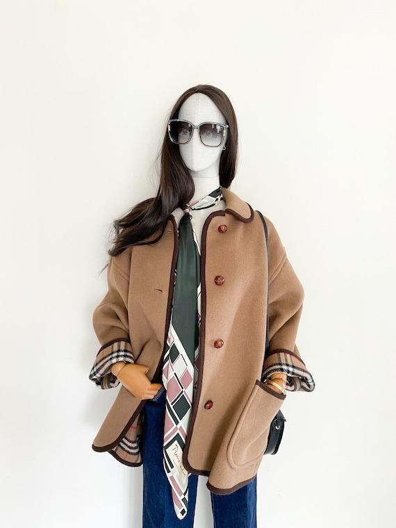 VTG Burberrys duffle coating oversized coat