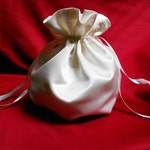 Satin Wedding Handbag Pouch Bridal Pompadour Available in Ivory White Red Black or Purple