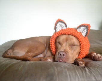 Fox Dog Hat - Dog Hat - Hats for Dogs - Gift for Pet Lovers - Animal Hat - Fox Hat - Doggie Hat