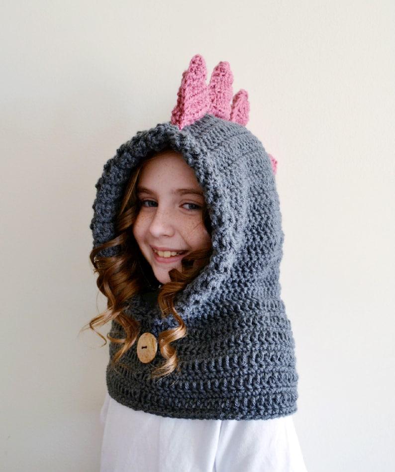 89a924456 Dinosaur Hat Dinosaur Hoodie Dinosaur Cowl Animal Hat | Etsy