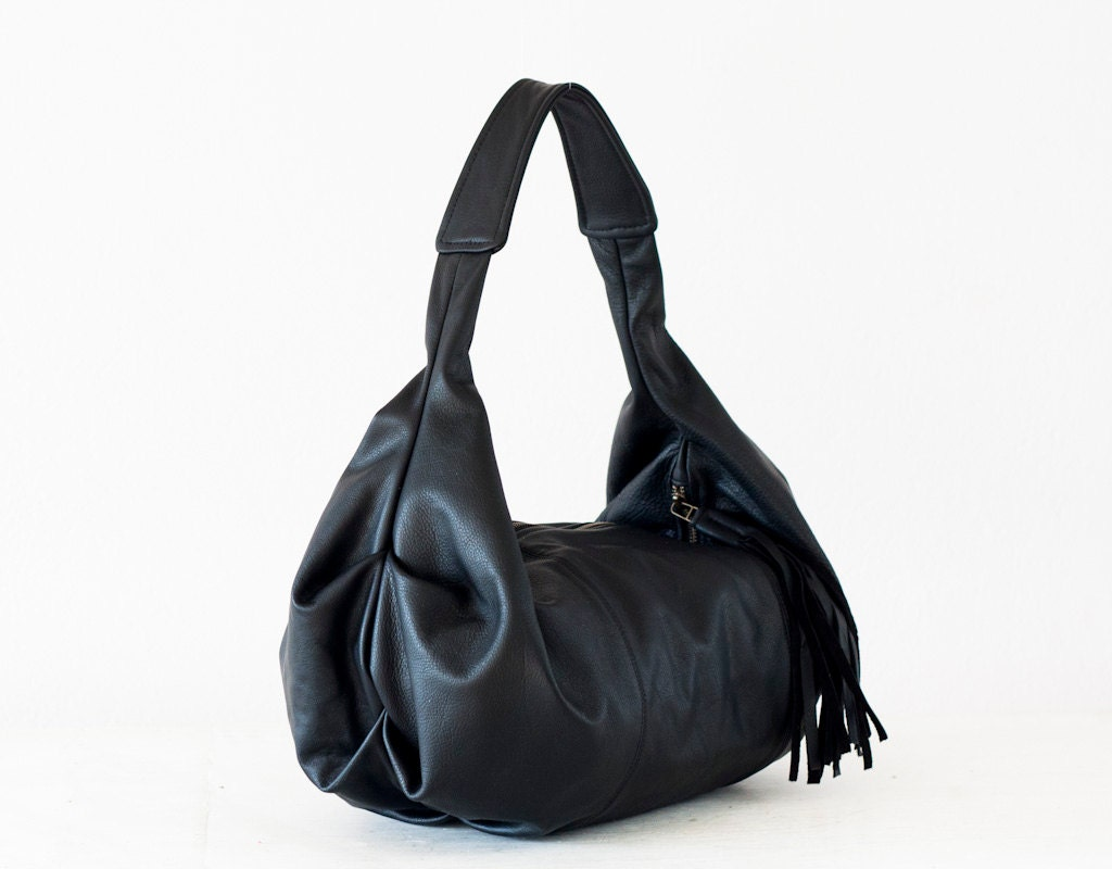 79abc8666ce Black leather hobo bag shoulder purse small shoulder bag hobo
