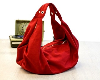 Kallia in red canvas FREE SHIPPING