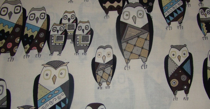 Witchy Stitchy Owl Set by Alexander Henry from the Haunted House Collection-2 Yards Total