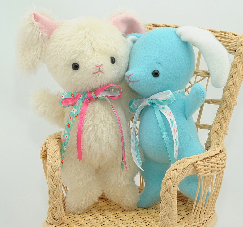 Mohair Stuffed Bunny pdf Sewing Pattern  Easy Baby Bunny  image 0