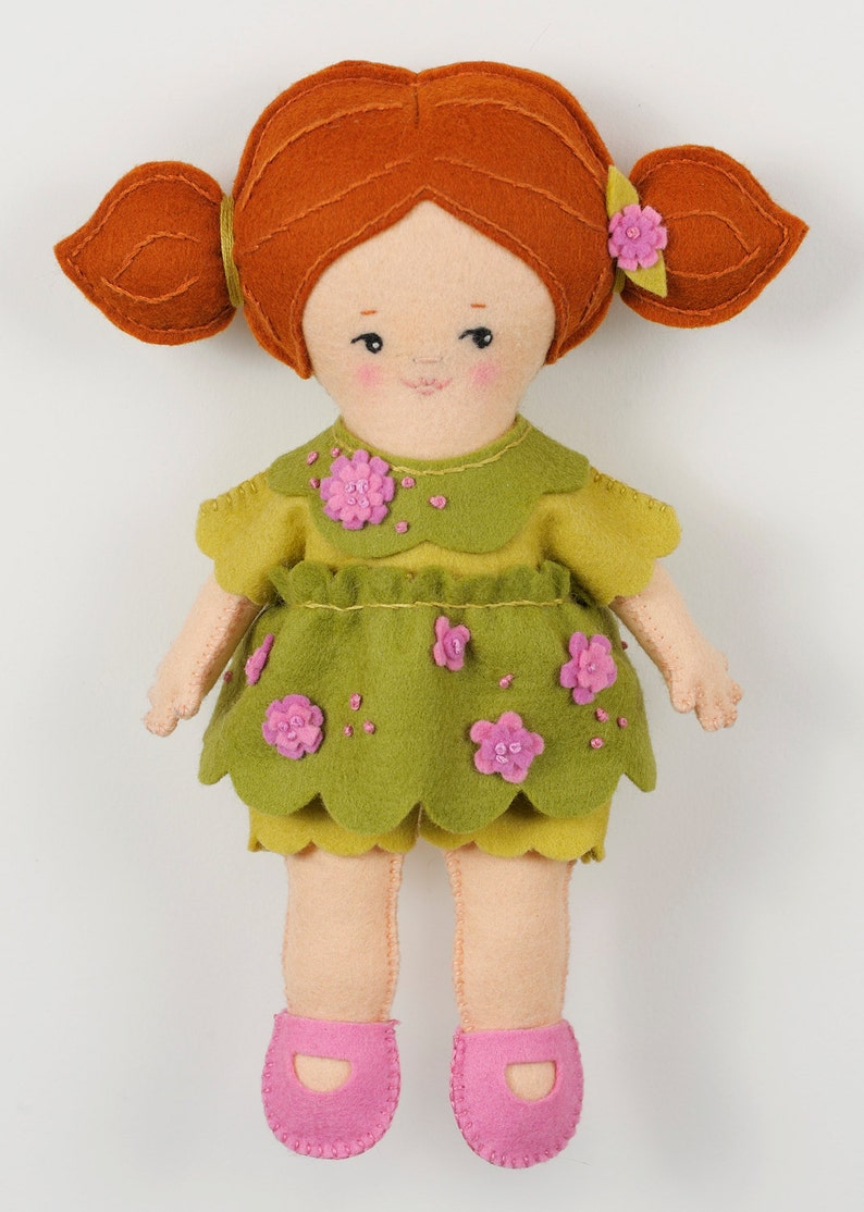 Easy Felt Doll pdf Pattern  Maisie  Instant Download image 0