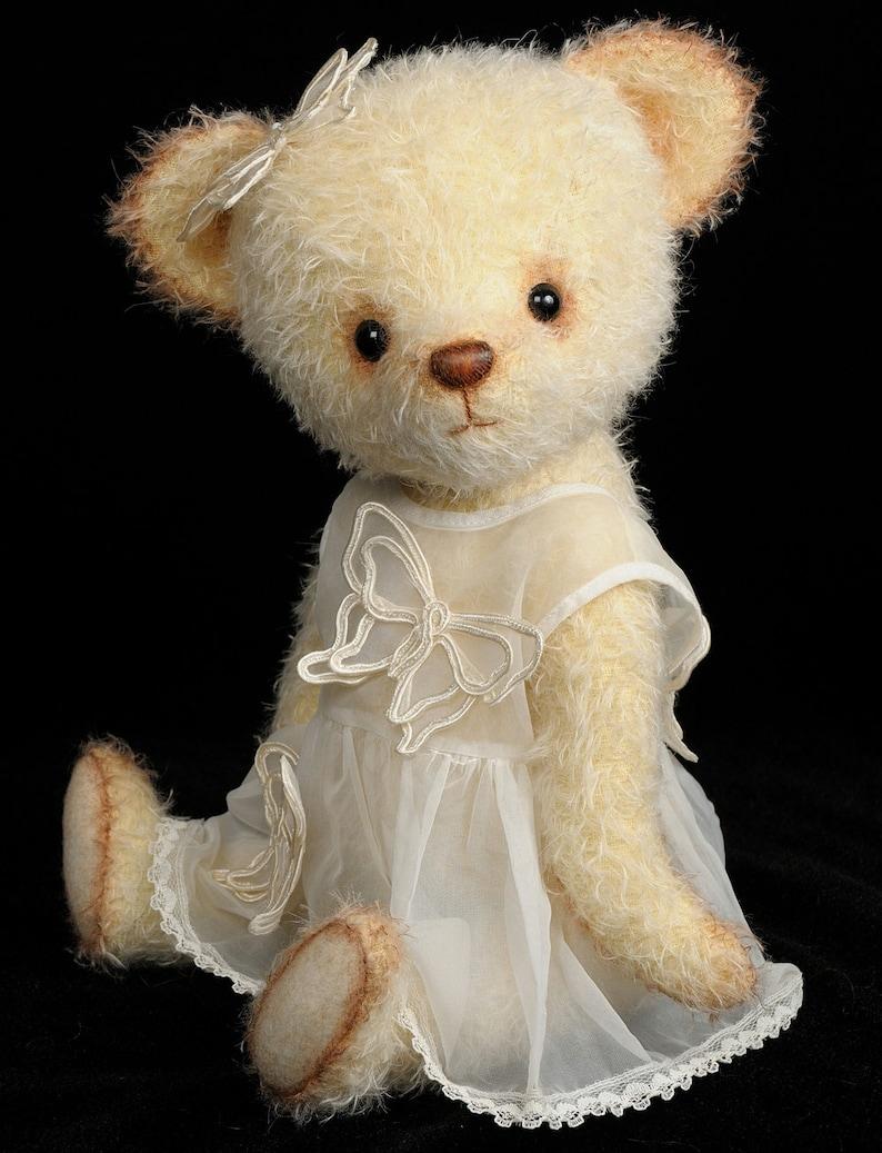 Mohair Stuffed Teddy Bear pdf Pattern  Angela  Bingle Bears image 0
