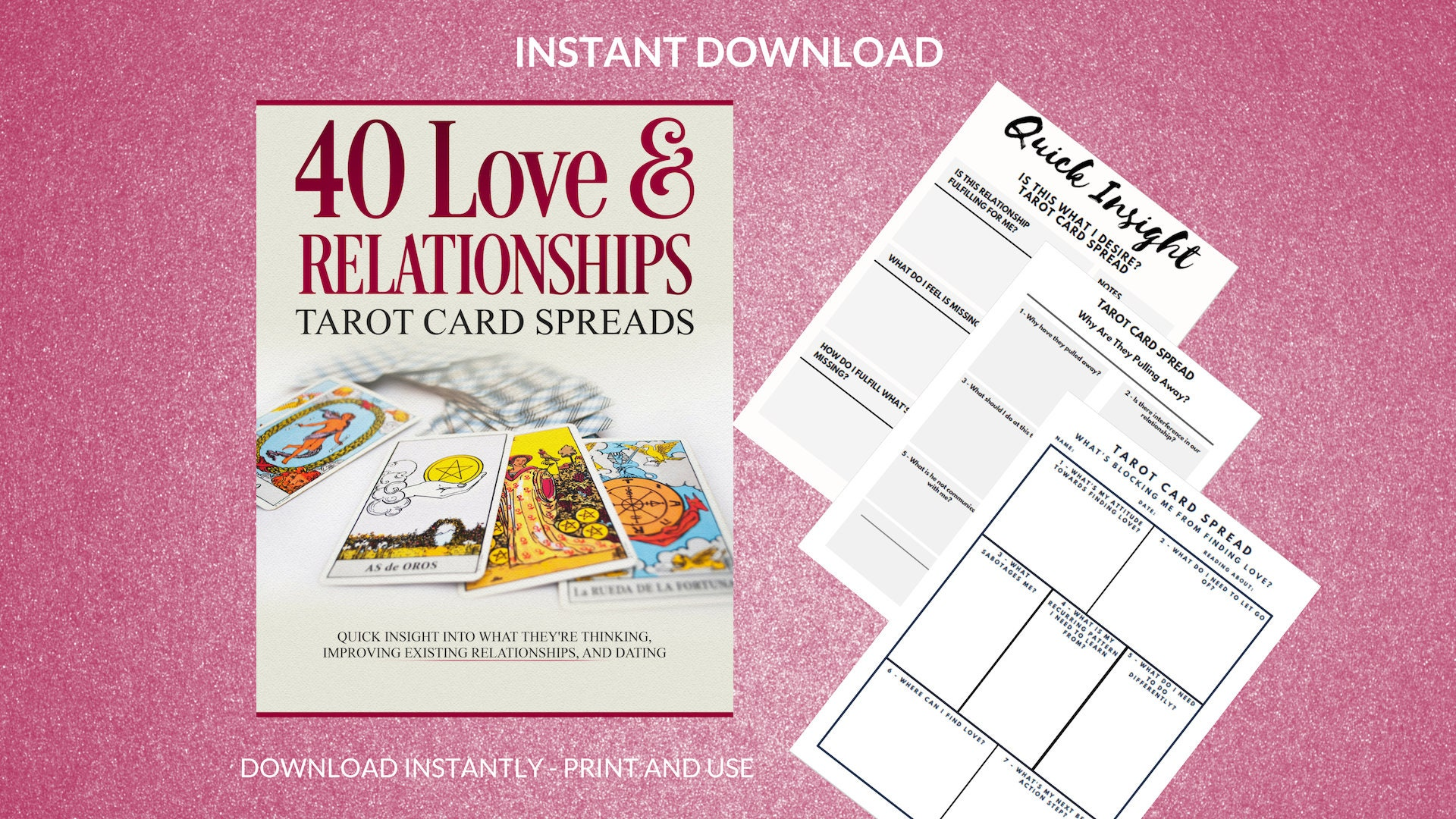 40 Love & Relationship Tarot Spreads | Instant Download | Printable  Worksheets | Dating Advice | Love Tarot Readings | For Guidance