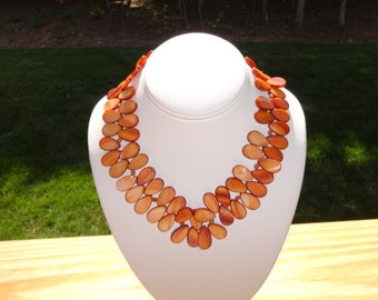 Mother of Pearl (Burnt Orange) Necklace