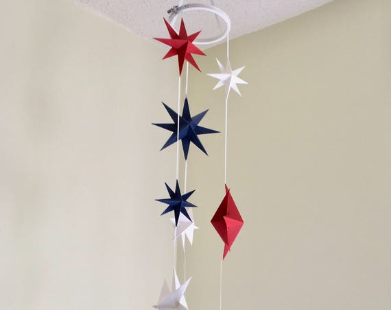 Star Baby Mobile All American Nursery Decoration
