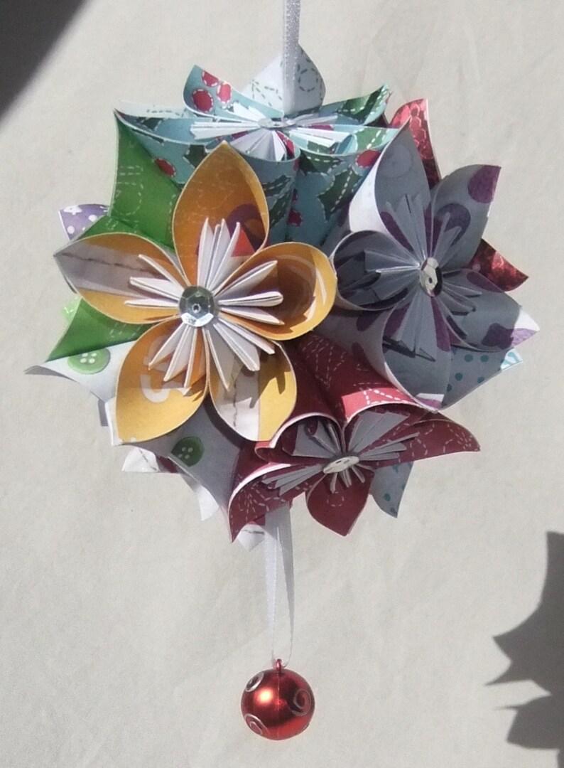 Lg Cheerful Origami Christmas Tree Ornamentchristmas Etsy
