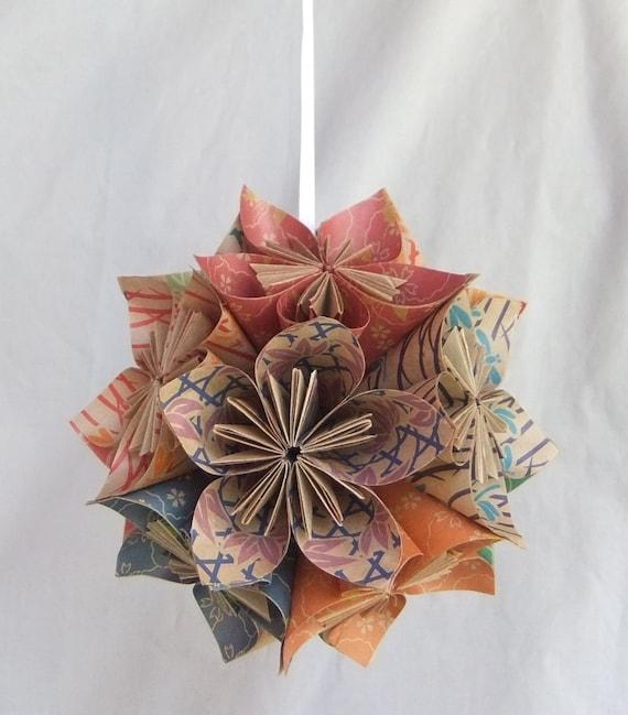 Origami Blumen Ornament Natur Christbaumschmuck Etsy