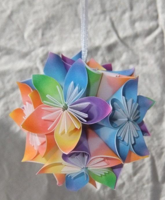 Origami Ornament Sunshine Christbaumschmuck Fan Etsy