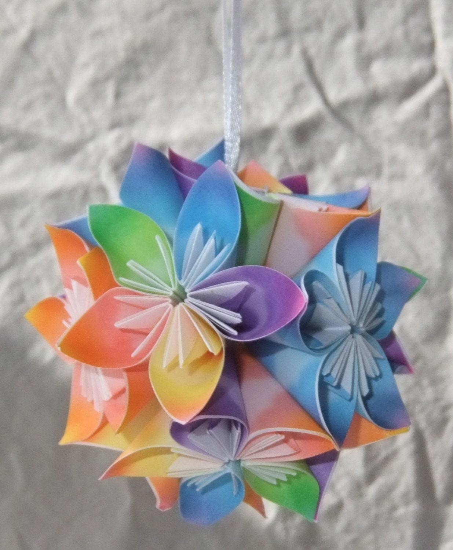 Origami Ornament 'Sunshine ' Christmas Tree Ornament | Etsy