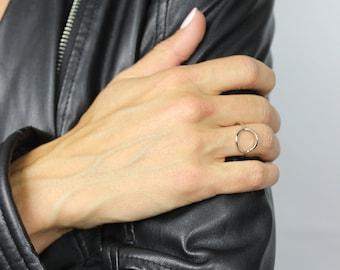 Modern Circle Ring, Sterling Silver or Gold Vermeil, Simple Circle Ring, Geometric Ring, Minimal Ring, Geometric Ring // BB-R008