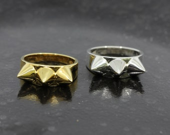 Sterling Silver or Vermeil Gold Spike Ring // BB-RB001 // Edgy playful spike ring, Statement Ring, Layering Ring, Blackbird Jewelry