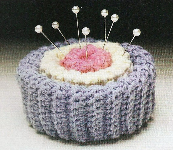 Vintage Pincushion Crochet PATTERN ONLY
