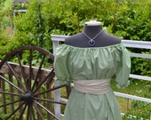 Edwardian Jane Austen Regency Dress and Sash costume all colors