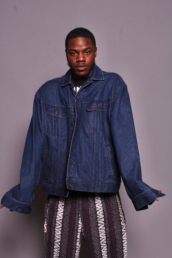 Levi/'s 558 Vintage 90s Mens Denim Jeans Dark Wash Straight 30x33 Hemmed