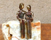 Miniature bronze sculptur...