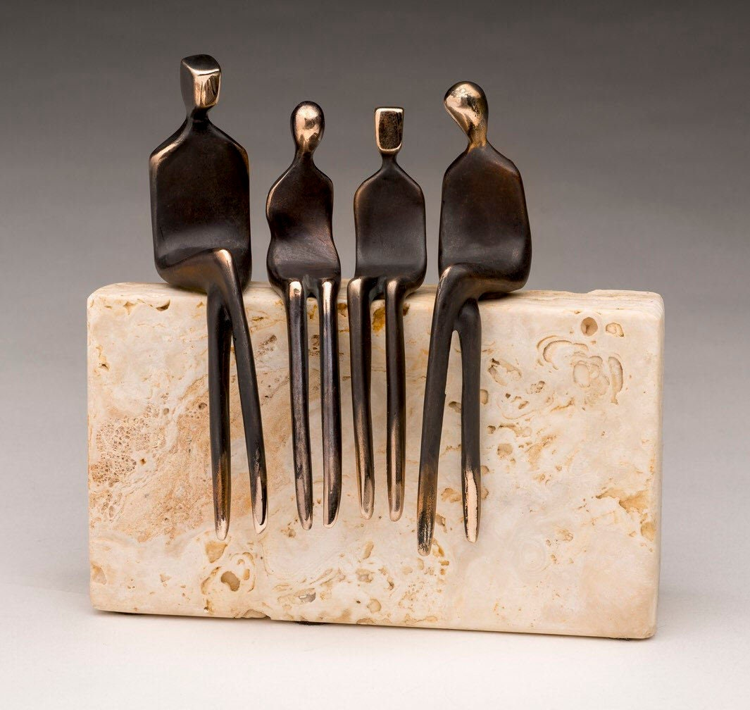 we are a family bronze hearth sculpture attractive bronze family