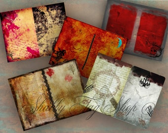 Gothic Stationery sheets Instant digital download / junk journal/ note book 8.5 x 11