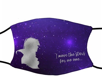 I move the stars for no one Face mask with filters (washable and reusable)
