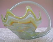 Vintage Swirl Murano Art Glass Bowl