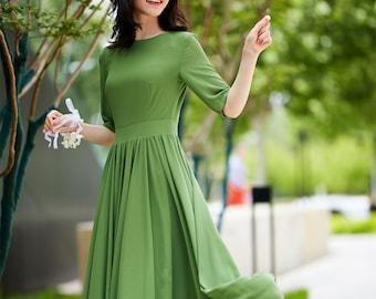 f6cfb3282de5a green chiffon dress, prom maxi dress, fit and flare dress, party dress,  summer dress, formal dress, evening dress, elegant dress 2177