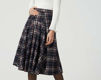 2c487d4f48a plaid wool skirt